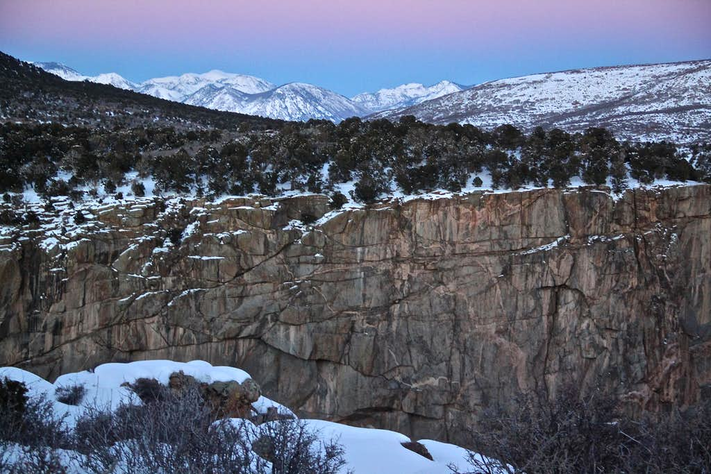 Sunset in the Black Canyon