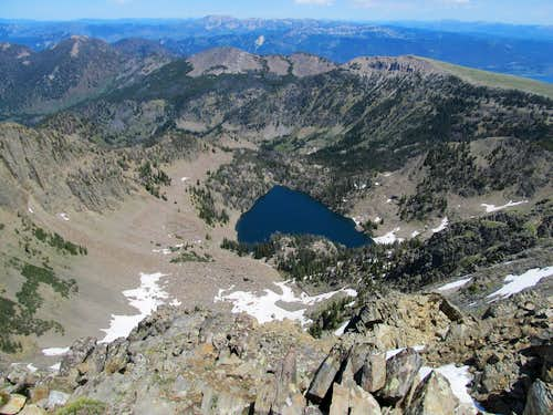 Sheep Lake from summit