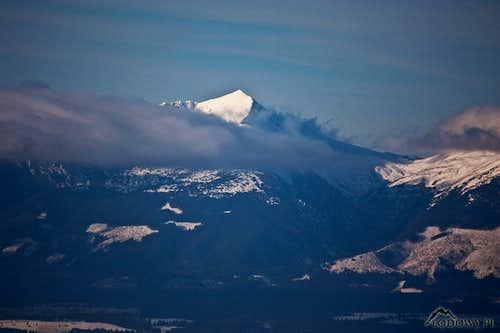 Bystra peak from Low Tatra ridge
