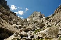 Middle Teton from boulder field