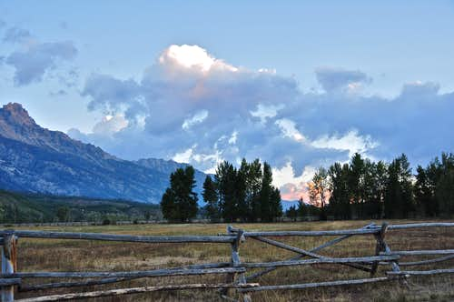 Sunrise near Jackson, Wyoming