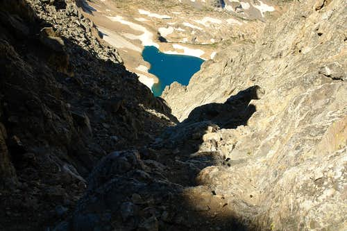 Upper section of the SW Couloir