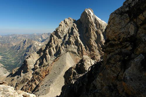 Grand Teton from the notch in the summit ridge
