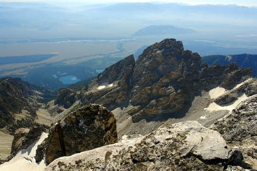Middle Teton, summit view southeast