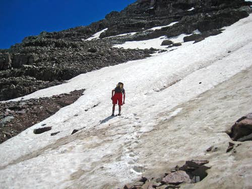 Crossing a Snowfield