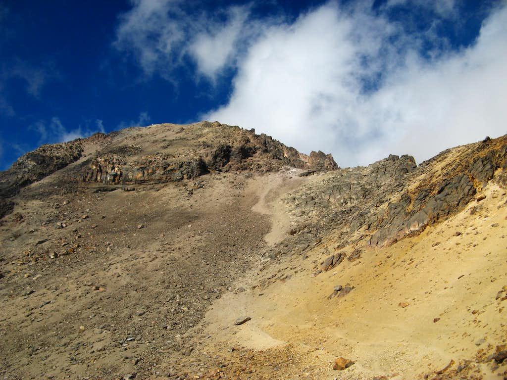 View from Grupo de Los Cien hut