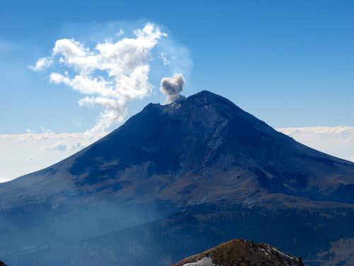 Popo erupting