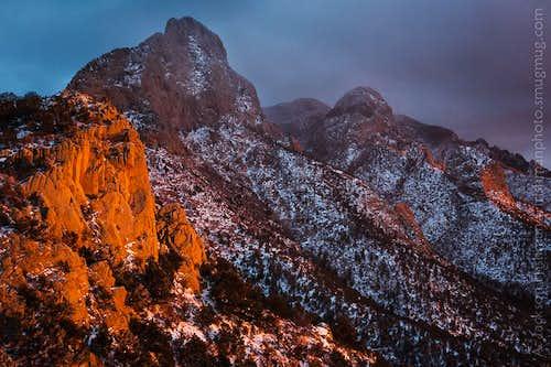 Winter Sunset from Piedra Lisa