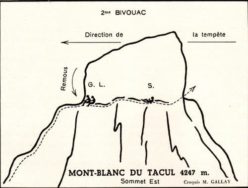 Bivouac summit of Mont Blanc du Tacul