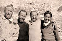 Everest 1952 - Raymond with Aubert, Flory and Tenzing