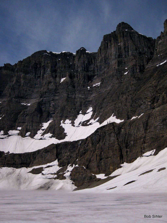 Iceberg Peak and Still-frozen Iceberg Lake