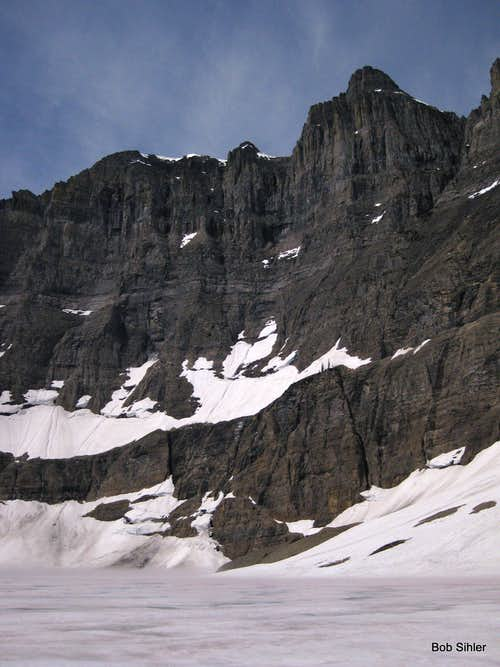 Iceberg Peak and Still-frozen Iceberg Lake