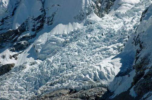 The seracs of the Khumbu ice...