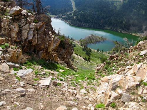descending a gully