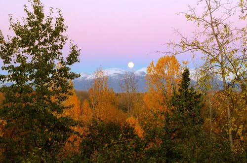 Moon over Anchorage