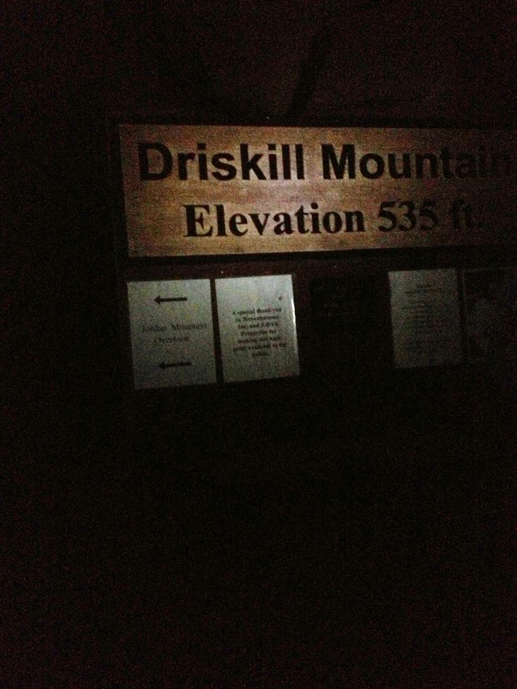 Driskill Mtn by night