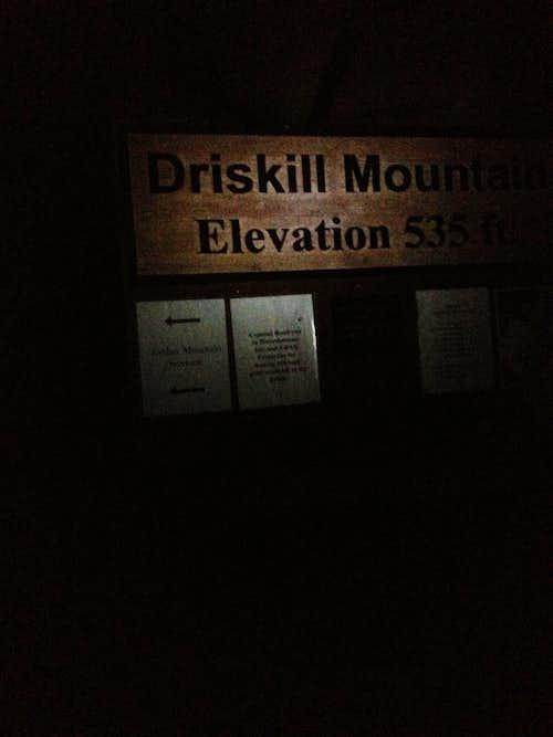 Driskill Mtn by night