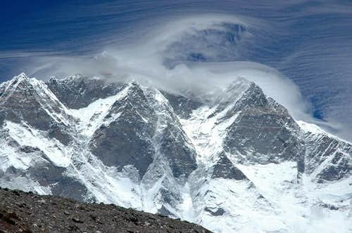 Clouds over Lhotse South...