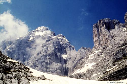 Civetta main summit and Torre di Valgrande from East