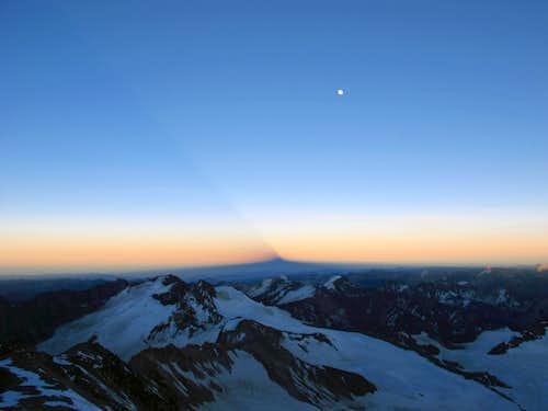 Anconcagua shadow on summit day