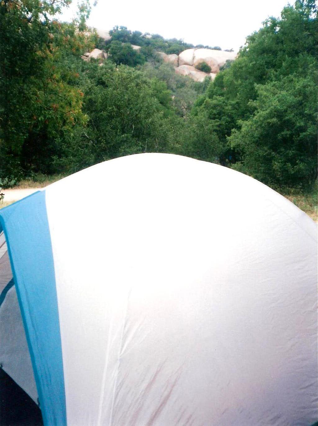 Campsite at Enchanted Rock