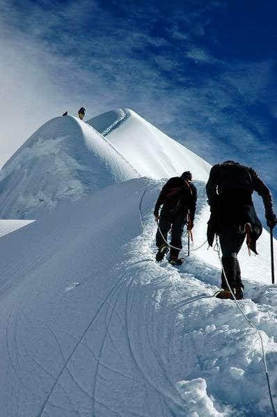 At the final ridge of Imja...