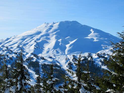 Mt. Bachelor on Tumalo Mt. Snowshoe