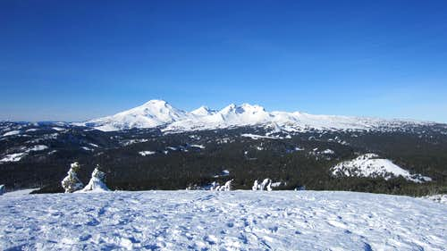 South Sister, Middle Sister, and Broken Top from Tumalo Mt. Summit