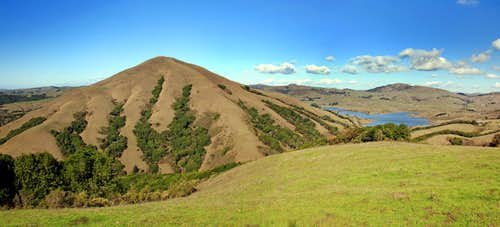 Black Mountain and Nicasio Reservoir from the south