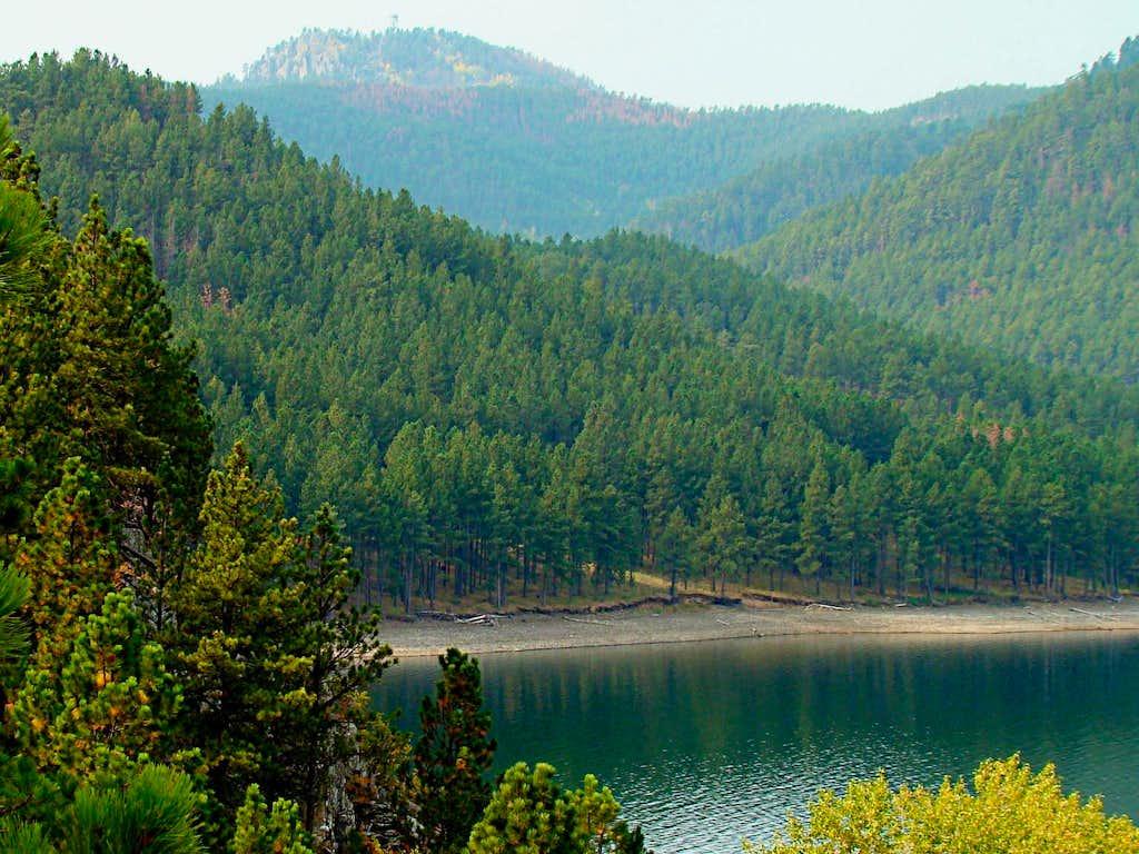Scruton Mountain view from Pactola Lake