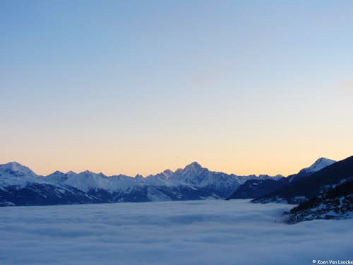 Bietschhorn at sunrise