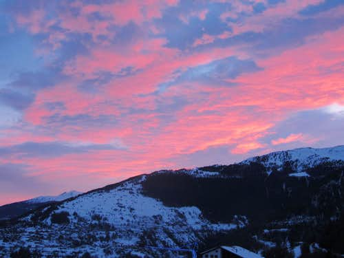 A beautiful start of the new year in Haute Nendaz