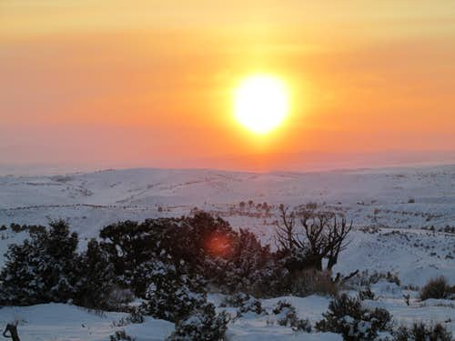 Cedar Mountain Sunset