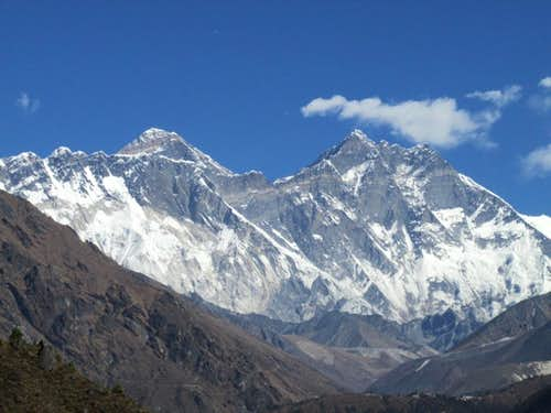 Everest and Lhotse