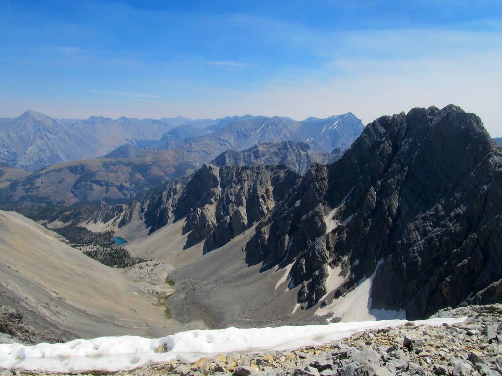 a tarn and Sacagawea Peak