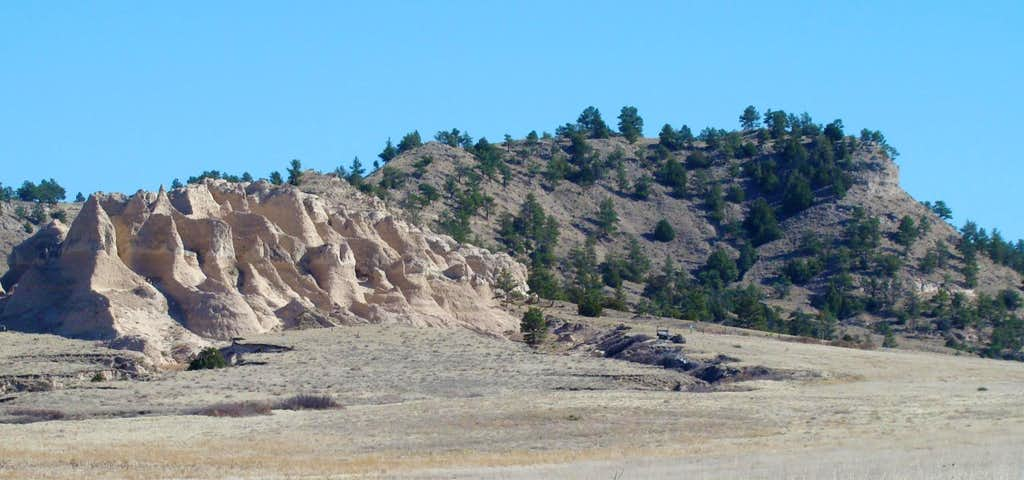 View of Bead Mountain from northwest