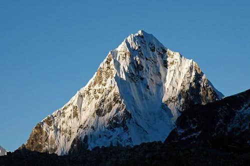 Peak over Lobuche Pass...