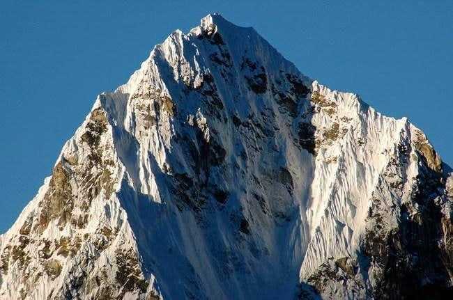 Closeup of peak west of...
