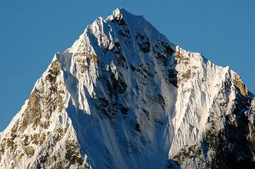 Closeup of peak west of...