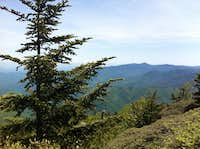 Views atop Mt Leconte