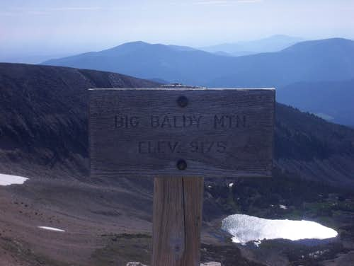 Big Baldy Summit Sign