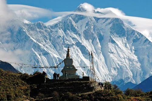 Lhotse south face from the...
