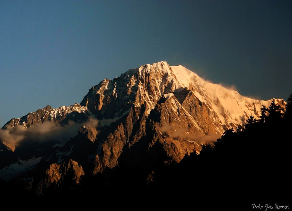Summer dawn over Monte Bianco South side