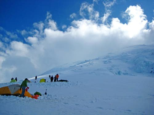 Camp Schurman in the Shadows