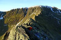 Striding Edge in January