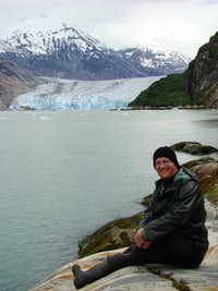 In front of Dawes Glacier