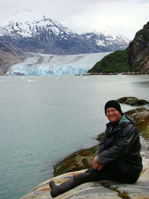 In front of Dawes Glacier