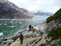 Hiking near Dawes Glacier