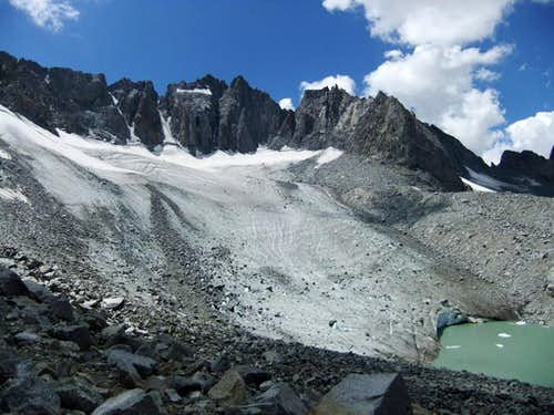 Palisade Glacier from Gayley Camp