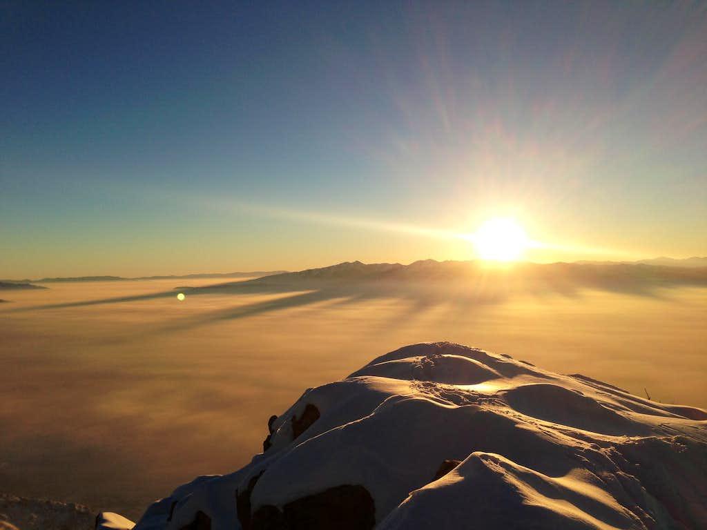 Winter Summit Mount Olympus